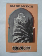 MARRAKECH - MAROC / MOROCCO, OFFICE MAROCAIN DU TOURISME. 1950 APROX. 12 PAGES FOLD. B/W PHOTOS. - Tourism Brochures