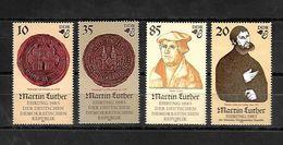 ALEMANIA ORIENTAL 1982 500 ANIVERSARIO DEL NACIMIENTO DE LUTERO SERIE COMPLETA - Unused Stamps