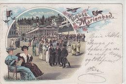 Gruss Aus Marienbad - Judaica - Litho - Oesterr. Fankatur - 1904        (A-48-120114) - Judaika