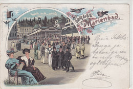 Gruss Aus Marienbad - Judaica - Litho - Oesterr. Fankatur - 1904        (A-48-120114) - Giudaismo