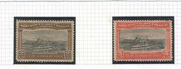 URUGUAY 1909 Port Of Montevideo, Scott Catalogue No(s). 177-178 MNH - Uruguay