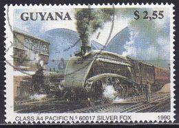 Guyana, 1990 - $2,55 Locomotive Class A4 - Nr.2292 Usato° - Guiana (1966-...)