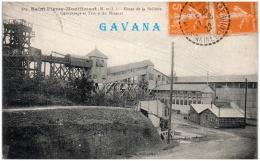 49 SAINT-PIERRE-MONTILMART - Mines De La Bellière - Concassage Et Triage Du Minerai   (Recto/Verso) - Andere Gemeenten