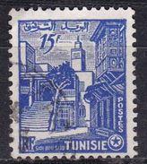 Tunisia, 1954  - 15fr Sidi Bou Said - Nr.246 Usato° - Tunisia (1956-...)