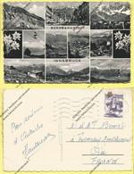 CPSM  TYROL  Multivues  Bergbahnstadt Innsbruck 1956 - Autriche