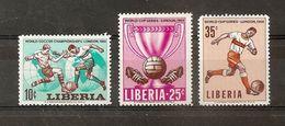LIBERIA  N 412 A 414  **  -  COUPE DU MONDE DE FOOTBALL A  LONDRES - Liberia