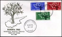 (E1413)  Grieks Cyprus  - FDC - Europa CEPT 1963 - Europa-CEPT