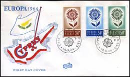 (E1431)  Grieks Cyprus  - FDC - Europa CEPT 1964 - 1964