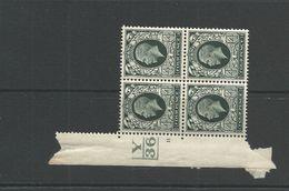 GV  Photogravure   4d Block Of Four Mint With Control - 1902-1951 (Könige)