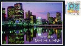 AUSTRALIA   MELBOURNE  Tarra River  Skyline At Evening  Living Together Nice Stamp - Melbourne
