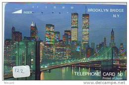 Phonecard USA  Related  * Telecarte USA Connectés  (122) NEW YORK * BROOKLYN * Telefonkarte USA Verbunden - Japan - - Landschappen