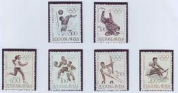 YUGOSLAVIA 1290-1295,unused,olimpic Sport - Zomer 1968: Mexico-City