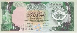 BILLETE DE KUWAIT DE 10 DINARS  DEL AÑO 1968 EN CALIDAD EBC (XF) (BANKNOTE) - Kuwait