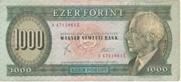 BILLETE DE HUNGRIA DE 1000 FORINT DEL AÑO 1983  (BANKNOTE) RARO - Hungría