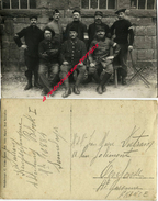 Carte Photo-prisonniers Entre Autres 67e Et 251e R-soldat DUTRAIN En Allemagne Envoi à Toulouse-photo C. Fricke- - Guerre, Militaire