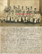 Carte Photo-marins-1ère Compagnie-envoyé De Cherbourg-allusion Au Vieux Dit Babague - Krieg, Militär