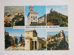 Postcard Saluti Dalla Repubblica Di S Marino PU 1963 Nice Stamps My Ref B21464 - San Marino