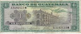 BILLETE DE GUATEMALA DE 1 QUETZAL DEL AÑO 1967 (BANKNOTE)  RARO - Guatemala