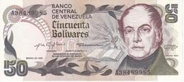 BILLETE DE VENEZUELA DE 50 BOLIVARES DEL AÑO 1981 CALIDAD EBC (XF) (BANKNOTE) - Venezuela