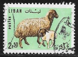 Lebanon, Scott # 442 Used Ewe, Lamb, 1965 - Liban