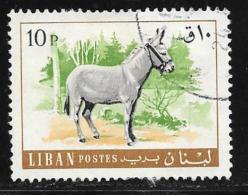 Lebanon, Scott # 457 Used Donkey, 1968 - Liban