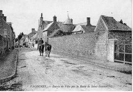 CP - VALOGNES Des Années 1900 - Entrée De La Ville Par La Route De Saint-Sauveur - Valognes