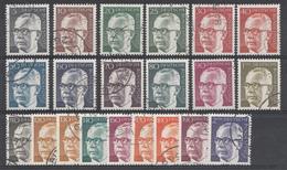 Allemagne Rép.Féd.1970  Mi.Nr: 635-645+689-692+727-732 Gustav Heinemann Complet  Oblitèré / Used / Gebruikt - [7] République Fédérale
