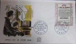 Enveloppe FDC 505 - 1964 - Appel Général De Gaulle - YT 1408 - 1960-1969