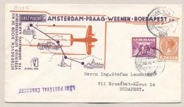 Nederland - 1936 - 1e Vlucht Amsterdam-Boedapest - Traject Amsterdam-Budapest - Rolzegels - Periode 1891-1948 (Wilhelmina)
