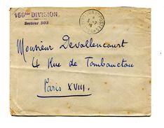 !!! CACHET TRESOR ET POSTES 503A SUR LETTRE DE 1916 POUR PARIS, AU VERSO CACHET ARMEE D'ORIENT 156 DIVISION - Postmark Collection (Covers)