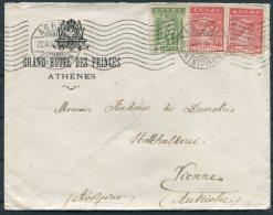 1914 Greece Grand Hotel Des Princes, Athens Cover - Wien, Austria - Lettres & Documents