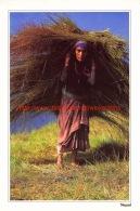 Woman Carrying Animal Fodder - Nepal - Népal