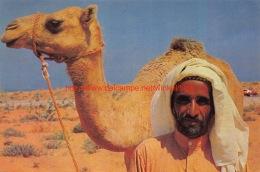 A Bedouin With His Camel - Dubai