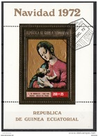"""Guinea Equatoriale 1972  """" Madonna With The Child """"   Quadro Dipinto Da L. De Morales  Manierismo Paintings Ecuatorial - Guinée Equatoriale"""