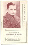 Devotie - Devotion - Hermanke Wijns - Merksem 1931 - Spelend Verongelukt 1941 - Druk. Bohez Waregem - Avvisi Di Necrologio
