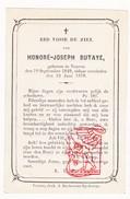 DP 20j. Honoré Joseph Butaye ° Veurne 1849 † 1870 - Devotion Images