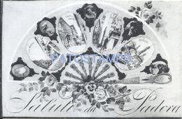75026 ITALY PADOVA PADUA MULTI VIEW & ART FAN POSTAL POSTCARD - Italia