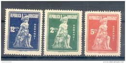 URUGUAY YVERT NRS. 272-74 SERIE COMPLETA COMPLETE SET MNH  MONUMENTO A LA BATALLA DE SARANDI AÑO 1923 - Uruguay