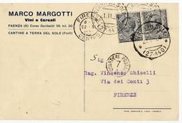 1869 FORLI TERRA DEL SOLE MARGOTTI VINI X FIRENZE - 1900-44 Vittorio Emanuele III
