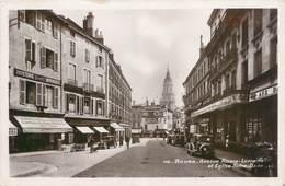 """CPSM FRANCE 01 """"Bourg, Avenue Alsace Lorraine"""" / COMMERCE - Otros"""