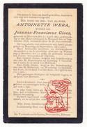 DP Antoinette Wera ° Binkom Lubbeek 1817 † Meensel Kiezegem Tielt-Winge 1898 X Joannes F. Claes - Kerkom - Devotion Images