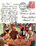 Attribué Illustrateur Schonpflug - Wien, Im Prater (manège Foire BKWI 744-8 - Illustrators & Photographers