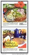 RT)2012,MEXICO,PAIR,TRADITIONAL FOOD/ JOINT ISSUE MEXICO-BRASIL,MNH.- - Mexico