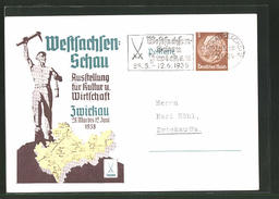 AK Zwickau, Weltsachsen-Schau Ausstellung Für Kultur Und Wirtschaft 28.Mai - 12. Juni 1938 - Expositions