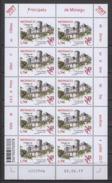 MONACO 2017  - FEUILLE DE  10 TP  Y.T. N° 3100 ( ANCIENS FIEFS DES GRIMALDI - DURAS ) - NEUFS ** - Blocks & Sheetlets