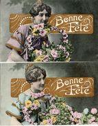Femme Photo 276 Femme Bonne Fête Fleurs (IRN Nancy, Style Bergeret X 2 - Donne