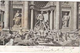 Italy &  Circulated Postal,Roma  Lisboa Fontana Di Trevi 1928 4e(1) - Monuments
