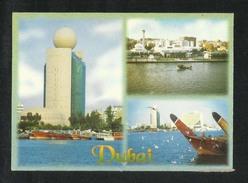 United Arab Emirates UAE Dubai  Picture Postcard 3 Scene Dubai View Card U A E CONDITION AS PER SCAN - Dubai