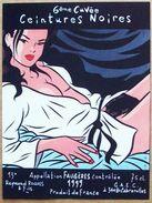 Etiquette De Vin (sérigraphie) Par WALTER MINUS : Ceintures Noires - 6ème Cuvée (1999) - Ex-libris