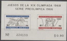 *~* MAKE AN OFFER *~* - MEXICO - 1966 Olympic Games Souvenir Sheet. Scott 975a. MNH ** - Mexico